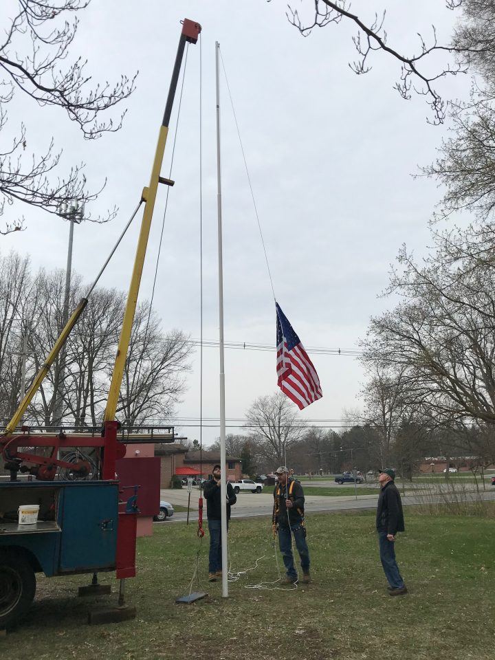 Putting up New Flag April 17, 2019